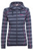 Bergans Humle Jacket Lady Navy/Dusty Blue Striped/Hot Pink